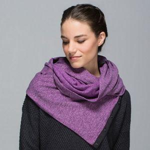 Lululemon vinyasa scarf ultraviolet heathered blac